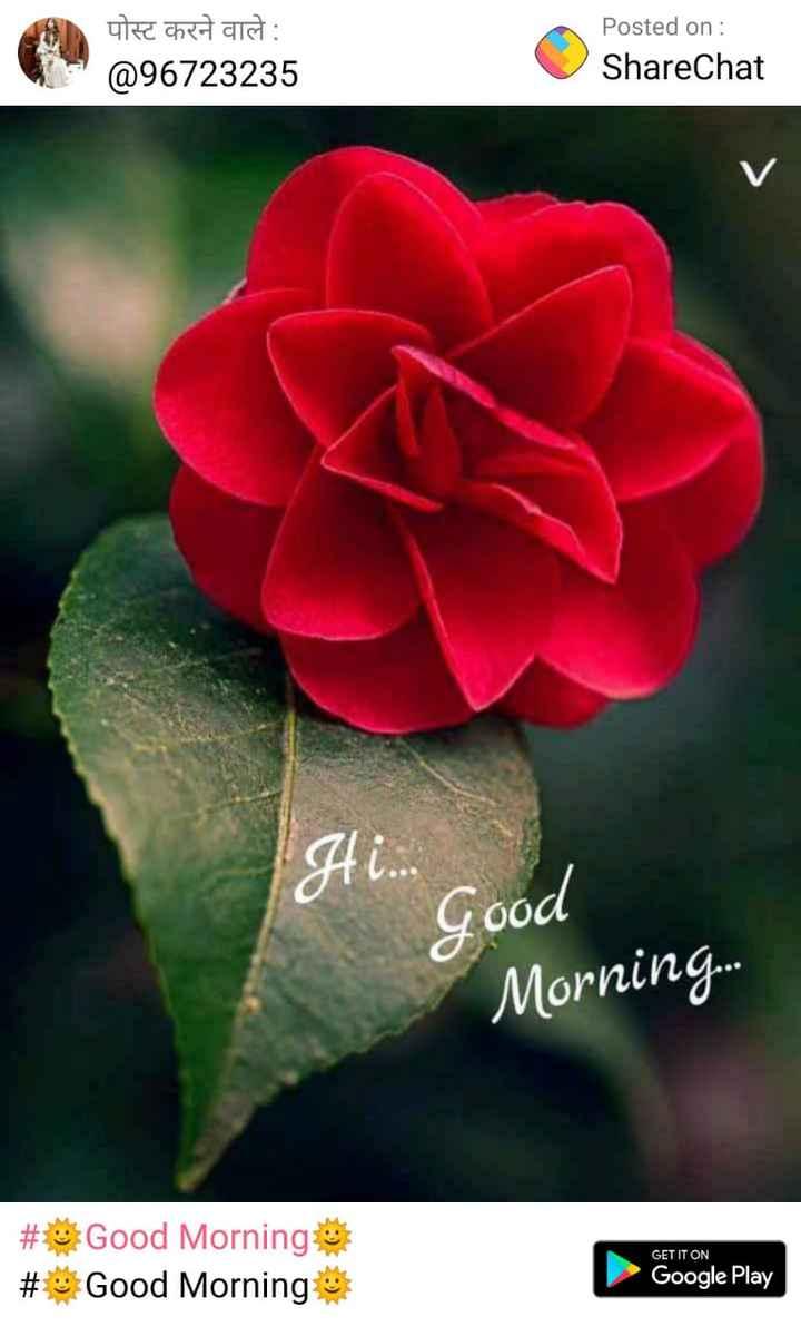 माय विकली - पोस्ट करने वाले : @ 96723235 Posted on : ShareChat Ai . . good Morning . . . # Good Morning # Good Morning GET IT ON Google Play - ShareChat