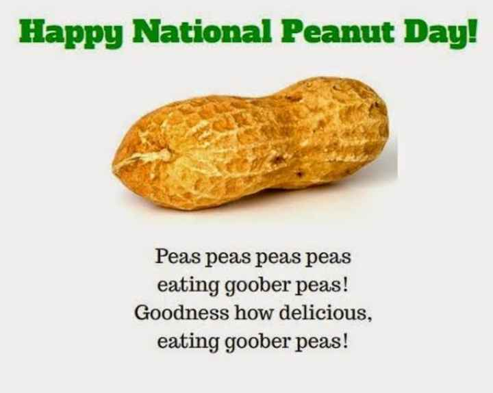 🥜 मूंगफली दिवस - Happy National Peanut Day ! Peas peas peas peas eating goober peas ! Goodness how delicious , eating goober peas ! - ShareChat