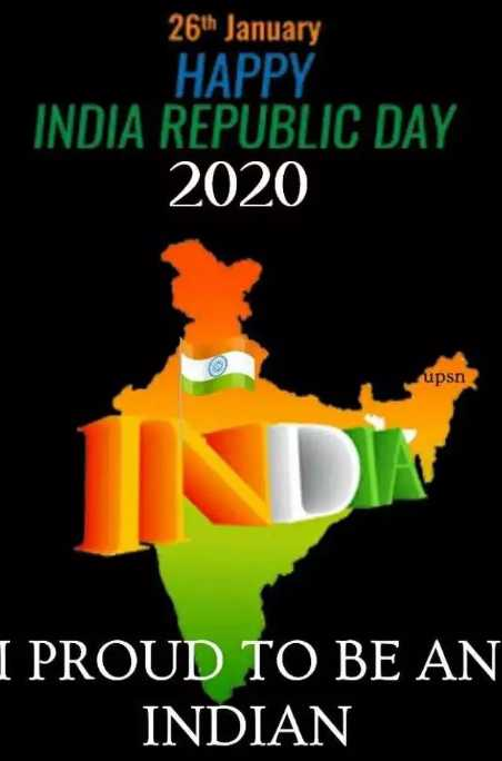 💐मेरा भारत महान - 26th January HAPPY INDIA REPUBLIC DAY 2020 upsn DY I PROUD TO BE AN INDIAN - ShareChat
