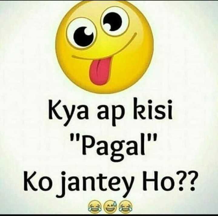 मेरा सवाल आपका जबाव - Kya ap kisi Pagal Ko jantey Ho ? ? - ShareChat