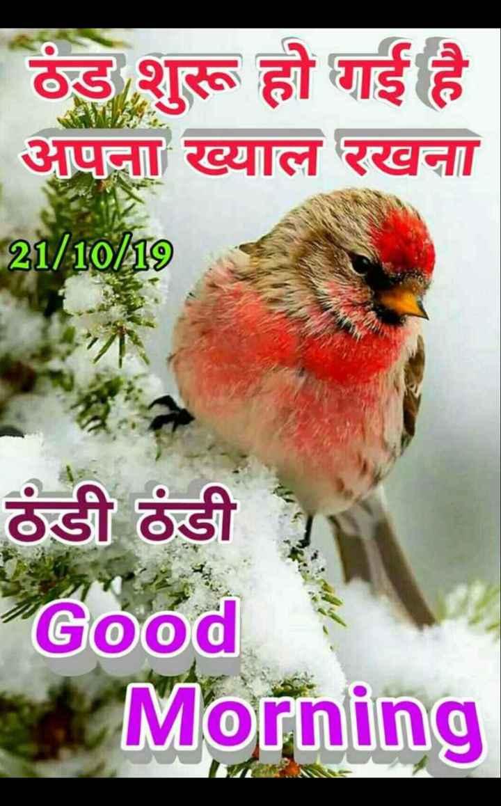 🌄 मेरी आज की सुबह - ठंड शुरू हो गई है अपना ख्याल रखना 21 / 10 / 19 ठंडी ठंडी Good Morning - ShareChat