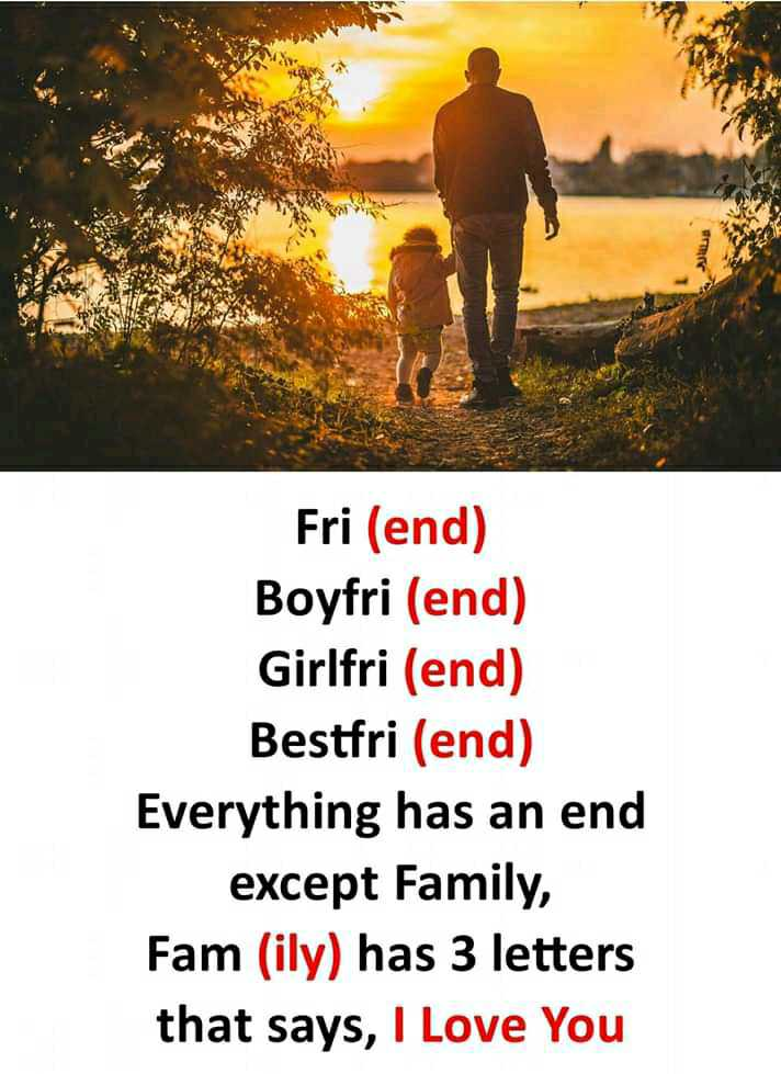 📒 मेरी डायरी - ویلا لے Fri ( end ) Boyfri ( end ) Girlfri ( end ) Bestfri ( end ) Everything has an end except Family , Fam ( ily ) has 3 letters that says , I Love You - ShareChat