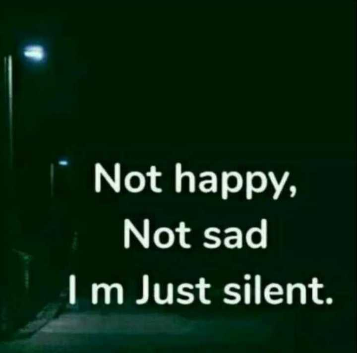 📒 मेरी डायरी - 1 Not happy , Not sad Im Just silent . - ShareChat