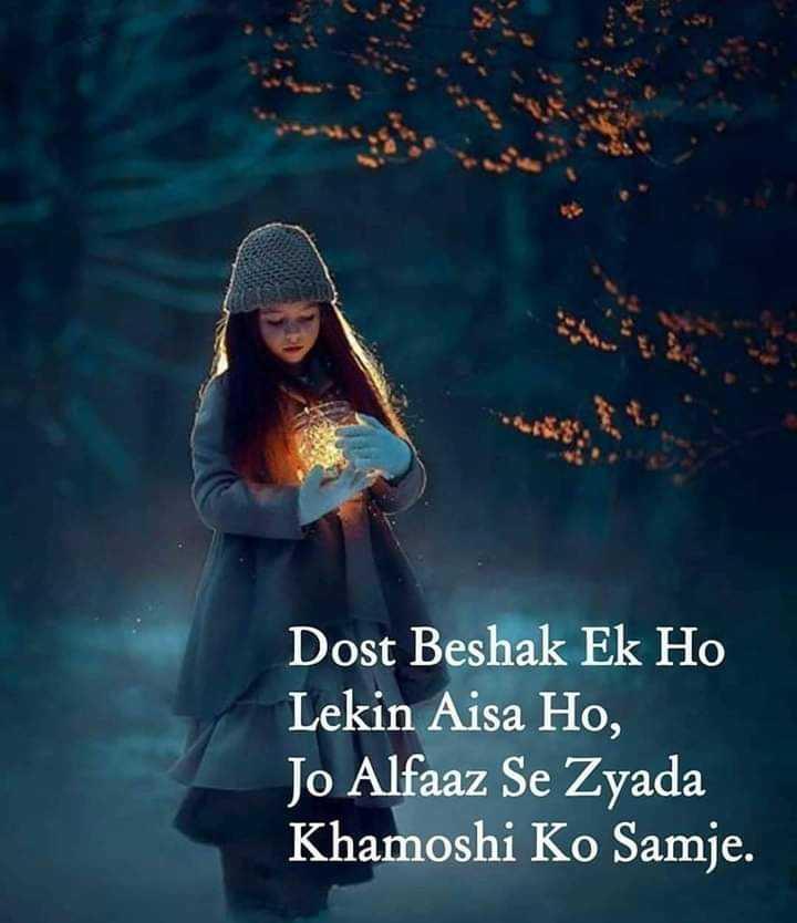 📒 मेरी डायरी - Dost Beshak Ek Ho Lekin Aisa Ho , Jo Alfaaz Se Zyada Khamoshi Ko Samje . - ShareChat