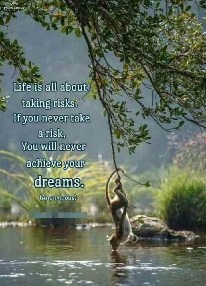 📒 मेरी डायरी - PS EXPRESS Life is all about taking risks . If you never take a risk , You will never achieve your dreams . ( Anonymous ) - ShareChat