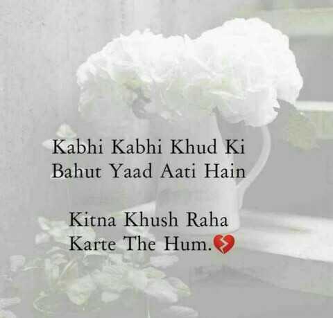 📒 मेरी डायरी - Kabhi Kabhi Khud Ki Bahut Yaad Aati Hain Kitna Khush Raha Karte The Hum . > - ShareChat