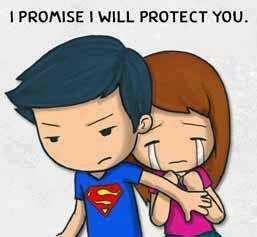 मेरे विचार - I PROMISE I WILL PROTECT YOU . - ShareChat