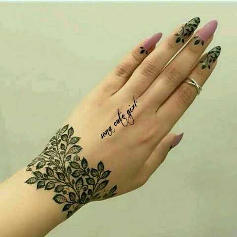 👐 मेहंदी डिजाइन - sona cufs girl - ShareChat