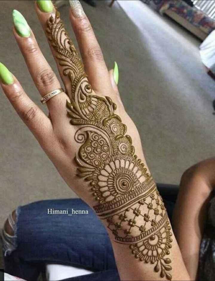 🔅मेहंदी - Himani _ henna - ShareChat