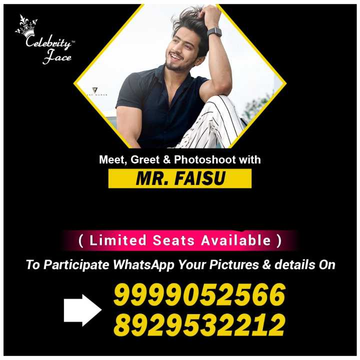मैं हूँ शेयरचैट कैप्टन - Celebrity Face Meet , Greet & Photoshoot with MR . FAISU ( Limited Seats Available ) To Participate WhatsApp Your Pictures & details on 9999052566 8929532212 - ShareChat