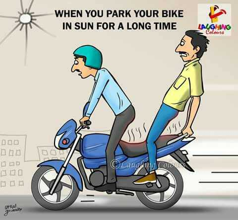 मौसम का हाल - WHEN YOU PARK YOUR BIKE IN SUN FOR A LONG TIME LAUGHING Colow no Laudyt CO arkadan - ShareChat