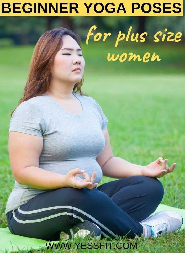 योगा - BEGINNER YOGA POSES for plus size women WWW . YESSFIT . COM - ShareChat