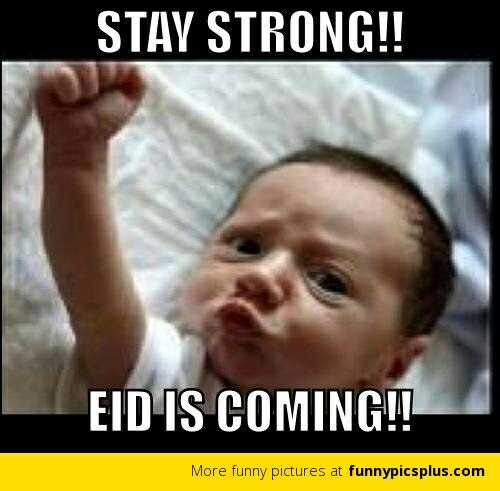 🤣रमज़ान स्पेशल जोक्स - STAY STRONG ! ! EID IS COMING ! ! More funny pictures at funnypicsplus . com - ShareChat