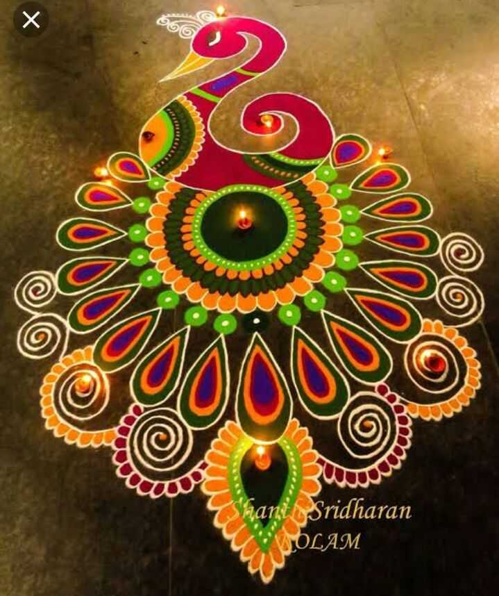 🌟रांगोळी - 666 AT janty Sridharan OLAM - ShareChat