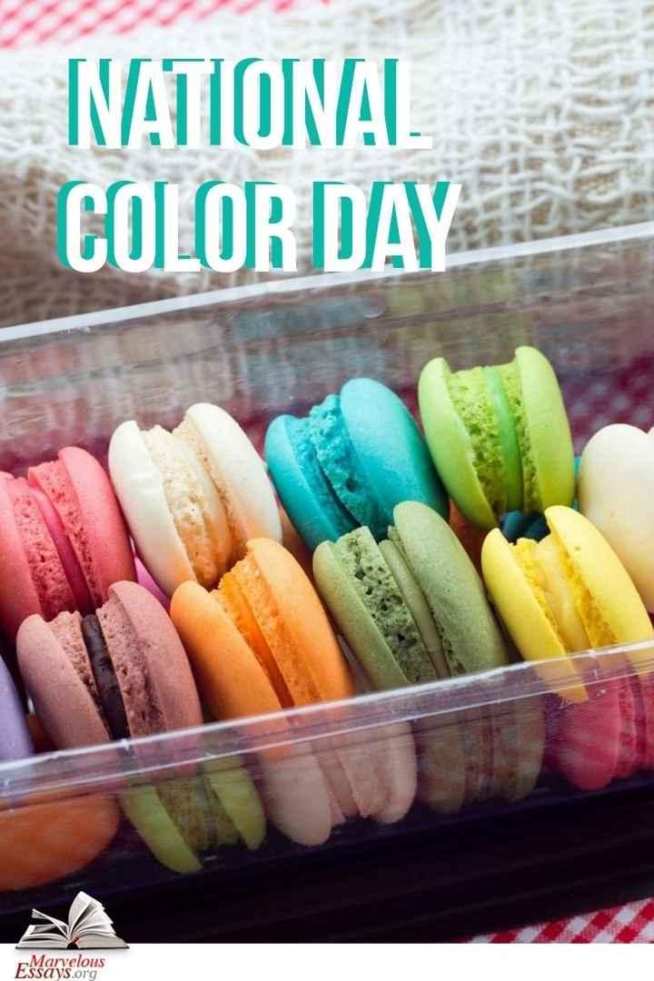 🎨राष्ट्रीय रंग दिवस - NATIONAL COLOR DAY Marvelous Essays . org - ShareChat
