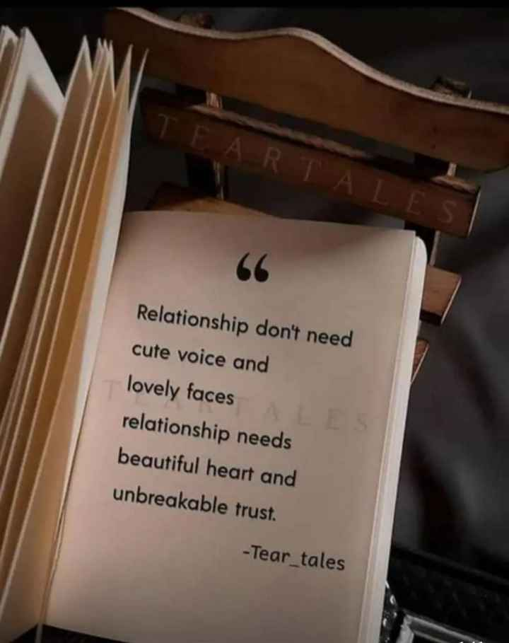 👍लाईफ कोट्स - I FARTALES Relationship don ' t need cute voice and lovely faces relationship needs beautiful heart and unbreakable trust . - Tear _ tales - ShareChat
