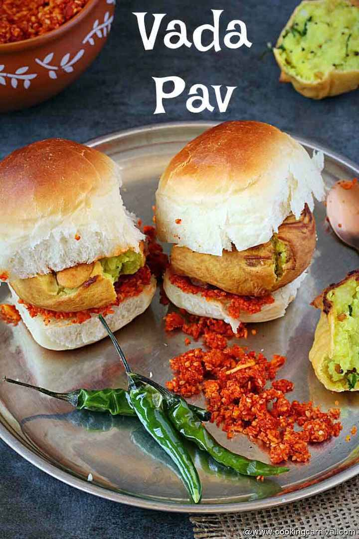 🍔 वडा पाव लवर - рі . 43 2 5 Едія педа Рада 1 www . cookingcarnival . com Талаб Vada Pav - ShareChat
