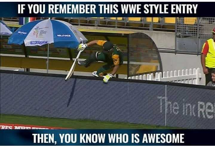 🏏वर्ल्ड कप फॅन - IF YOU REMEMBER THIS WWE STYLE ENTRY The ine Re RES DE THEN , YOU KNOW WHO IS AWESOME - ShareChat