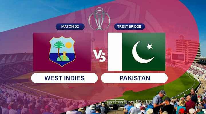 🏆 वर्ल्ड कप:  WI vs PAK 🏏 - MATCH 02 TRENT BRIDGE WEST INDIES PAKISTAN 33333333333 NU - ShareChat