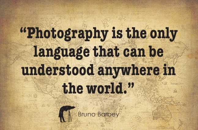 """📸 वर्ल्ड फोटोग्राफी डे - """" Photography is the only language that can be understood anywhere in the world . TE SA Bruno Barbey - ShareChat"""