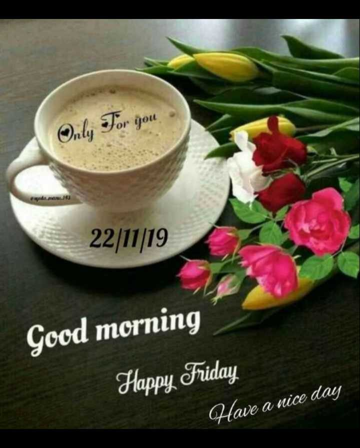 😎वायरल वीडियो - Only For you or you 22 / 11 / 19 Good morning Happy Friday Have a nice day - ShareChat