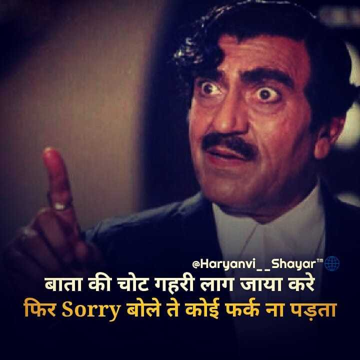 🙏वाहेगुरु - @ Haryanvi Shayar बाता की चोट गहरी लाग जाया करे फिर Sorry बोले ते कोई फर्क ना पड़ता - ShareChat