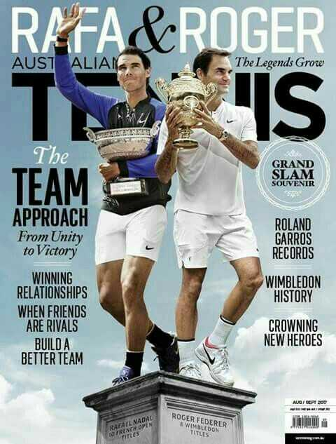 🎾🎾 विंबलडन 2019  फेडरर vs नडाल - RAFA & ROGER AUST ALIAS The Legends Grow The GRAND SLAM SOUVENIR ROLAND GARROS RECORDS APPROACH From Unity to Victory WINNING RELATIONSHIPS WHEN FRIENDS ARE RIVALS BUILD A BETTER TEAM WIMBLEDON HISTORY CROWNING NEW HEROES NAON ROGER FEDERER WIMBLEDON TITLES TRU TO FRENCN OPEN TITLES - ShareChat