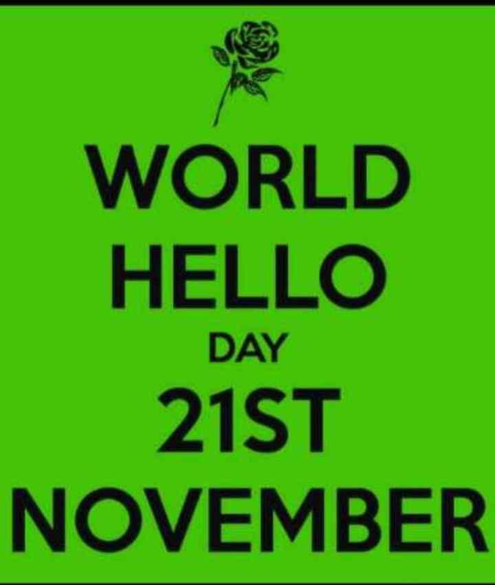 📺 विश्व टेलीविजन दिवस - WORLD HELLO 21ST NOVEMBER DAY - ShareChat