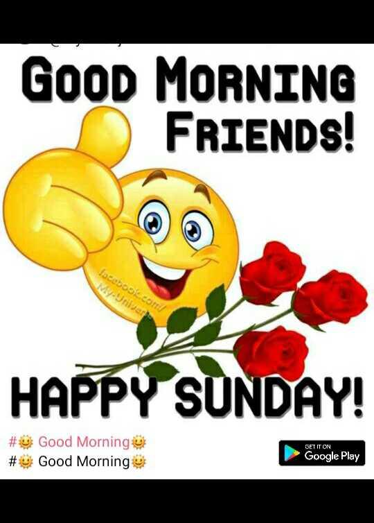 ⚔विश्व नागरिक सुरक्षा दिवस - GOOD MORNING FRIENDS ! OSCO HAPPY SUNDAY ! GET IT ON # # Good Morning Good Morning Google Play - ShareChat