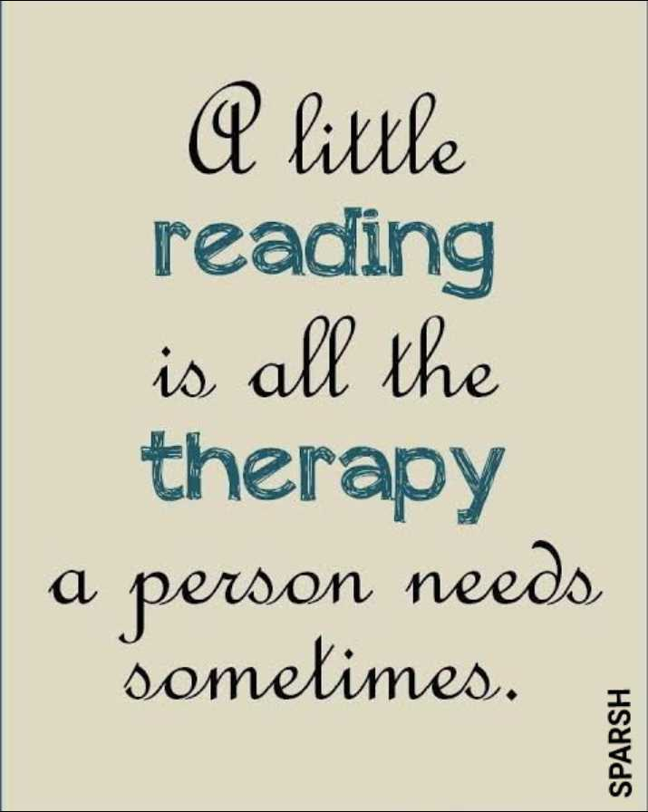 📕विश्व पुस्तक दिवस - A little reading is all the therapy a person needs sometimes . SPARSH - ShareChat