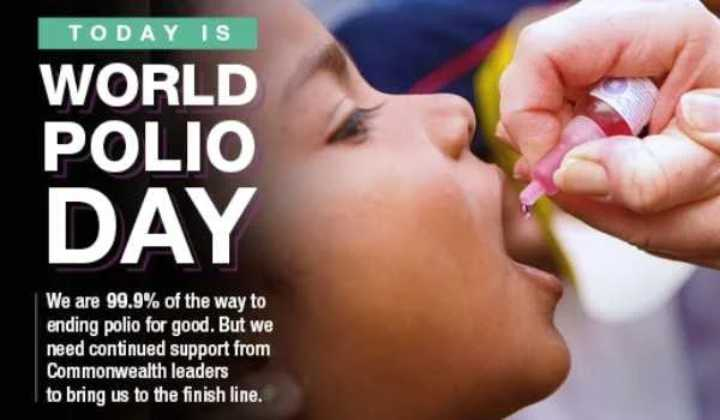 💧विश्व पोलियो दिवस - TODAY IS WORLD POLIO DAY We are 99 . 9 % of the way to ending polio for good . But we need continued support from Commonwealth leaders to bring us to the finish line . - ShareChat
