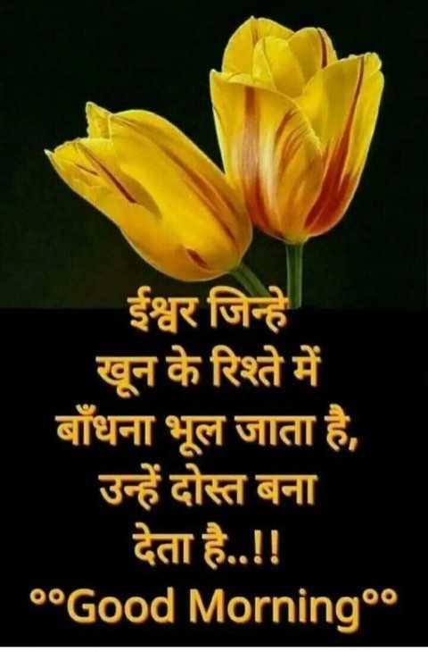 शुभ गुरुवार - ईश्वर जिन्हें खून के रिश्ते में बाँधना भूल जाता है , उन्हें दोस्त बना देता है . . ! ! °°Good Morning°० - ShareChat