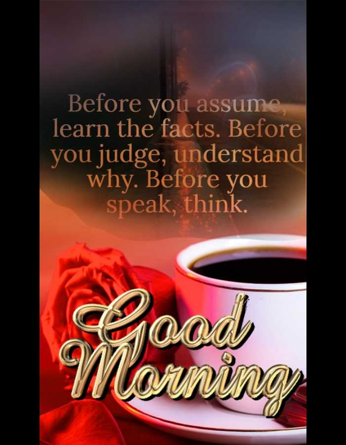 शुभ गुरुवार - Before you assume , learn the facts . Before you judge , understand why . Before you speak , think . pood Morning - ShareChat
