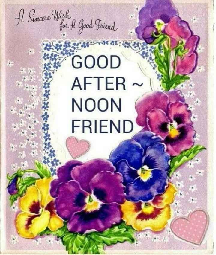 🕛 शुभ दोपहर - A Sincere Nish A Good Friend end GOOD AFTER ~ NOON FRIEND - ShareChat