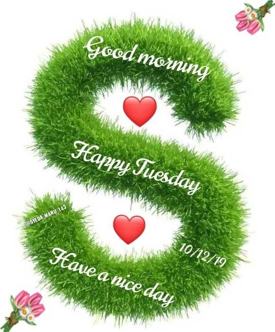 🌷शुभ मंगलवार - Good morning Happy Tuesday @ SYE DA MANU 143 10 / 12 / 19 Have a nice day - ShareChat
