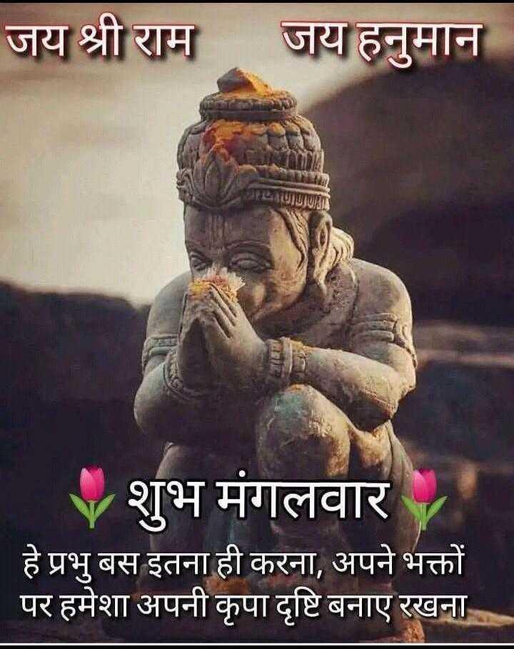🌷शुभ मंगलवार - जय श्री राम जय हनुमान 27 Vशुभ मंगलवार हे प्रभु बस इतना ही करना , अपने भक्तों पर हमेशा अपनी कृपा दृष्टि बनाए रखना - ShareChat