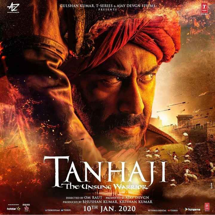 🌷शुभ मंगलवार - GULSHAN KUMAR , T - SERIES & AJAY DEVGN FFILMS PRESENTS TANHAJI . . THE UNSUNG WARRIOR DIRECTED BY OM RAUT PRODUCED BY AJAY DEVGN PRODUCED BY BHUSHAN KUMAR , KRISHAN KUMAR BEREN SIE HIER hotstar * ITSTRIES 10TH JAN . 2020 O / TSERIES . OFFICIAL WETSERIES hungama - ShareChat