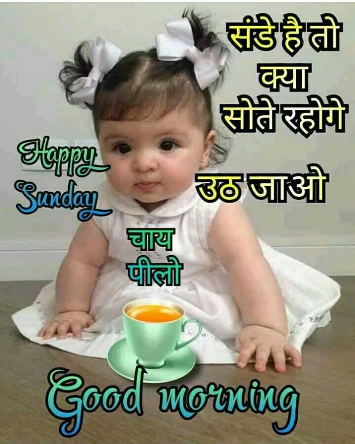 🌷शुभ रविवार - Slappy जन संडे है तो क्या सोते रहोगे उठ जाओ चाय पीली Sunday Good morning - ShareChat