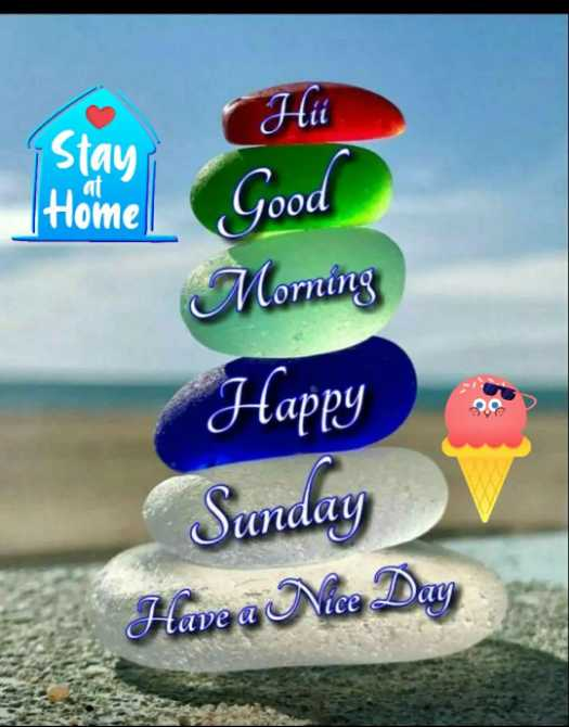 🌷शुभ रविवार - Hii Stay at Home Good Morning Happy Sunday Have a Nice Day - ShareChat