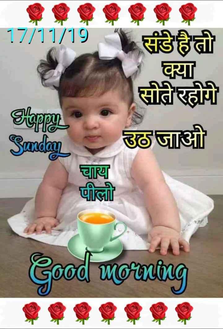 🌷शुभ रविवार - 17 / 11 / 19 संडे है तो क्या सीतरहीी उठायी चाय पीलो Good morning - ShareChat