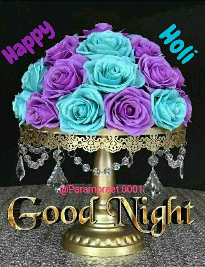 🌠  शुभरात्रि - Happy Holi POParampreet 00016 Good Night - ShareChat