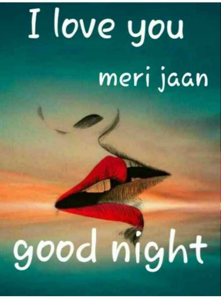 🌙 शुभरात्रि - I love you meri jaan good night - ShareChat