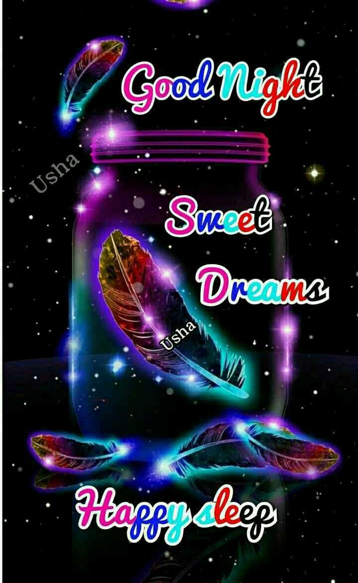 🌙शुभरात्रि - Good Nialle • : Usha : Sweet Dreams Usha Happy dleep - ShareChat