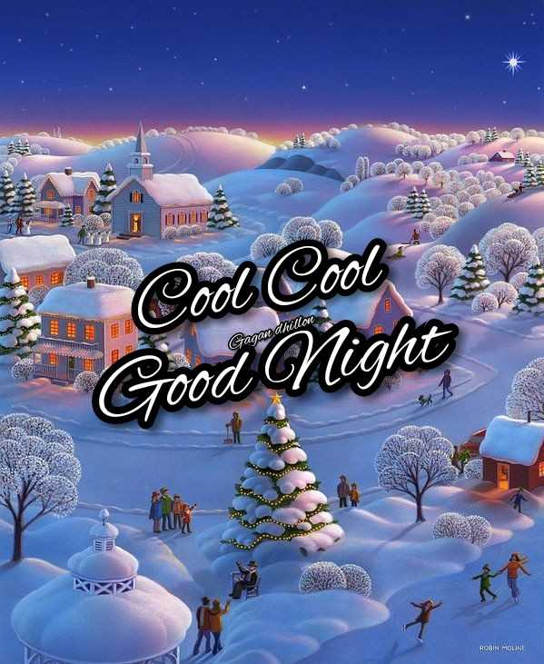 😴शुभ रात्री - V col Cool Good Night Gazan dhillone ROBIN MOLINE - ShareChat