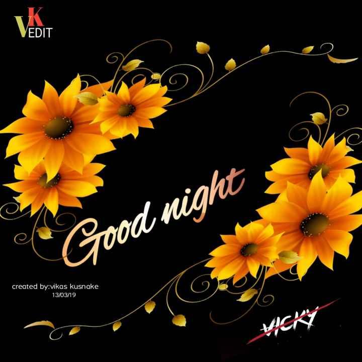 😴शुभ रात्री - EDIT Good night created by vikas kusnake 13 / 03 / 19 - ShareChat