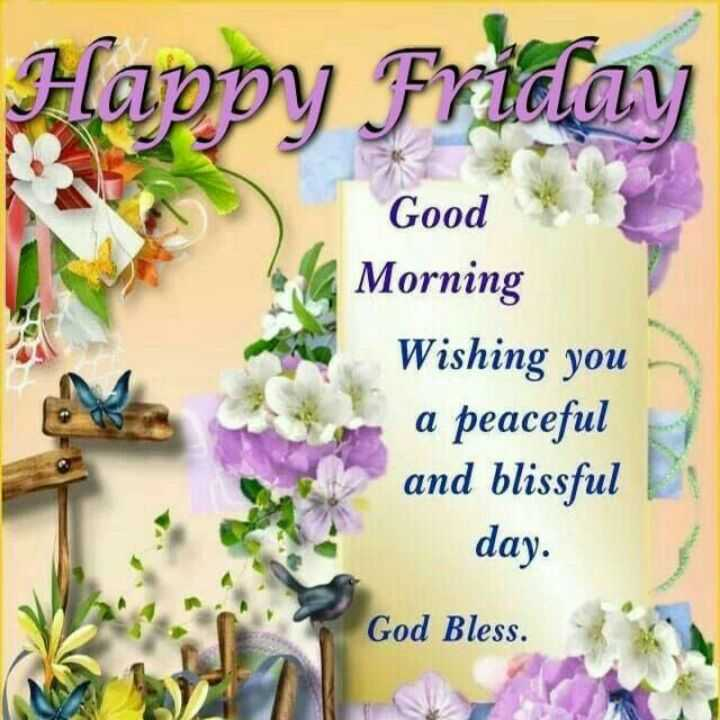 🌷शुभ शुक्रवार - Happy Friday Good Morning Wishing you a peaceful and blissful day . God Bless . - ShareChat