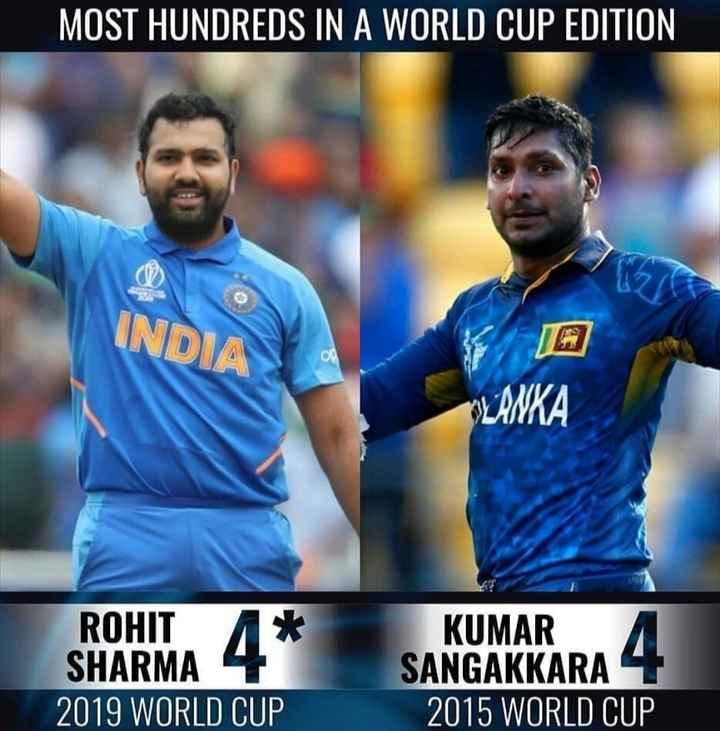 🏏 शेयरचैट क्रिकेट एक्सपर्ट - MOST HUNDREDS IN A WORLD CUP EDITION INDIA OLANKA ROHIT A * SHARMA 2019 WORLD CUP KUMAR SANGAKKARA 4 2015 WORLD CUP - ShareChat