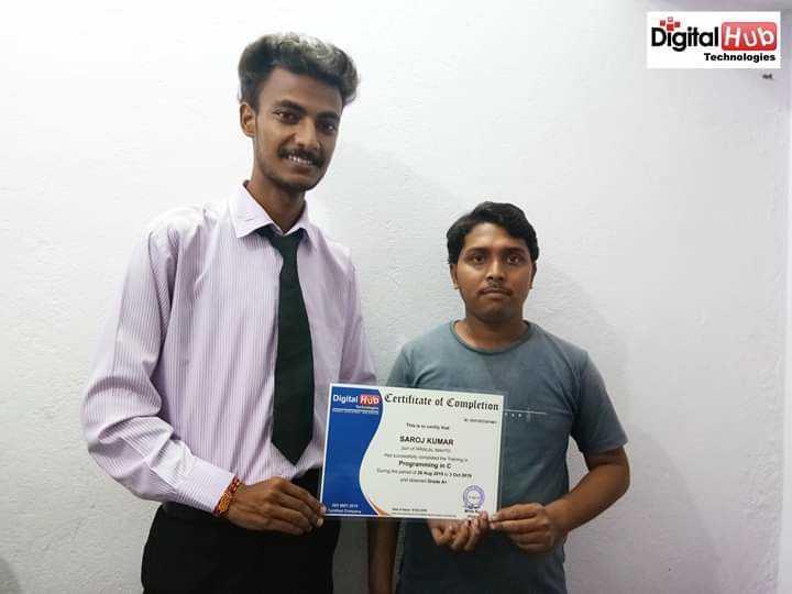 🤠 शेयरचैट ग्रुप एडमिन हंट - Digital Hub Technologies Digital Hub Certificate of Completion SAROJ KUMAR - ShareChat