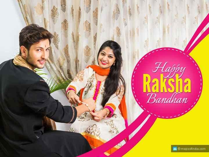 😍शेयरचैट राखी फ़िल्टर - Happy Raksha Bandhan m © mapsofindia . com - ShareChat