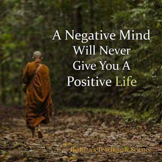 🖋 शेयरचैट Quotes - A Negative Mind Will Never Give You A Positive Life - Buddha ' s Teaching & Science - ShareChat